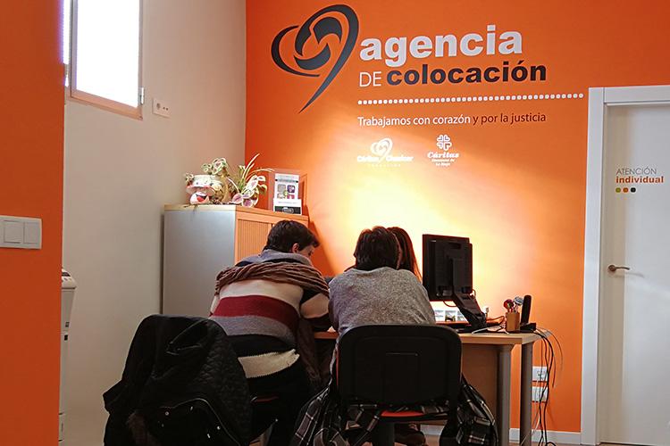 La Agencia de Colocación de Fundación Cáritas Chavicar reabre el próximo lunes su servicio de atención presencial